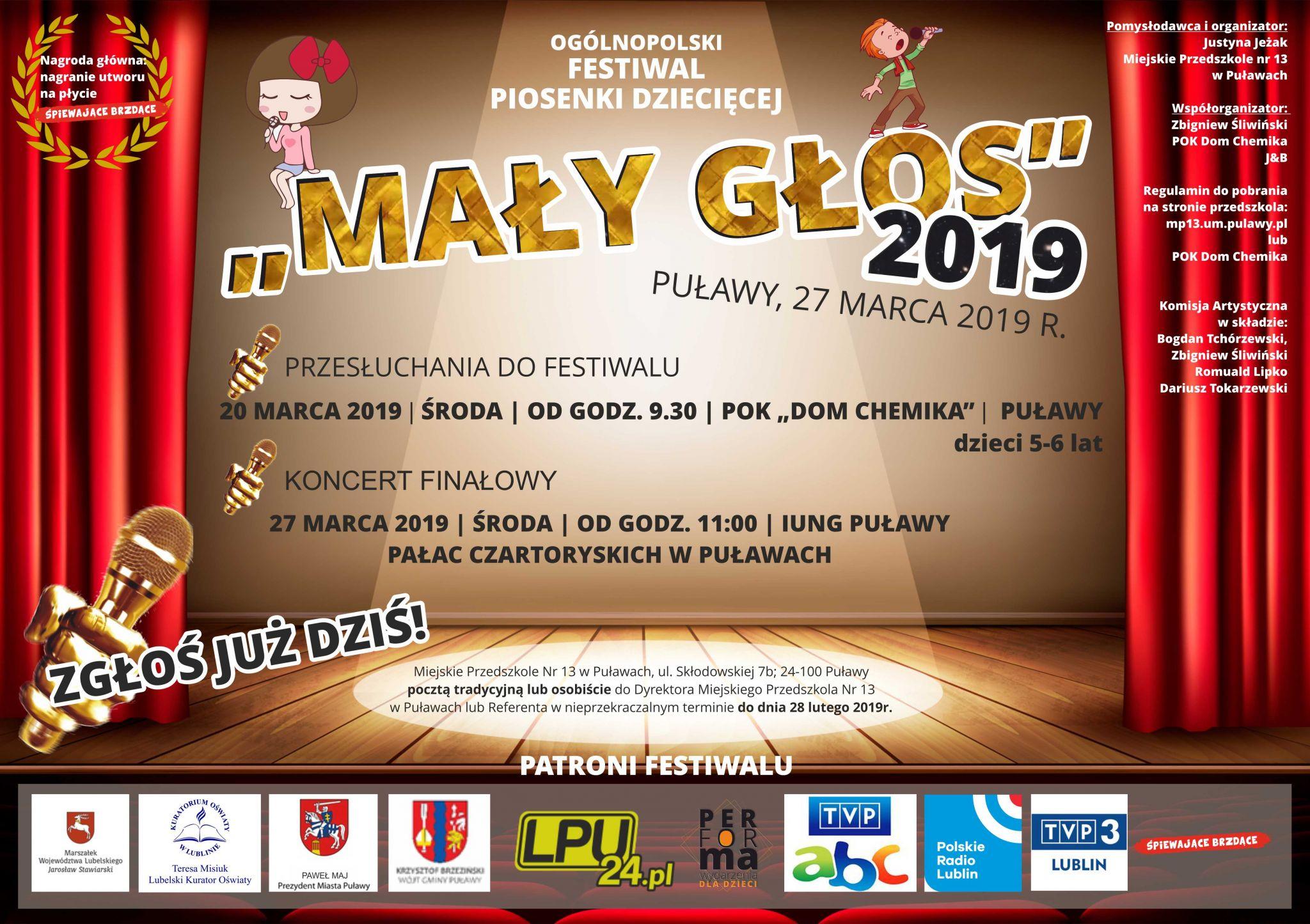 festival piosenki maly glos Festiwal Piosenki Dziecięcej