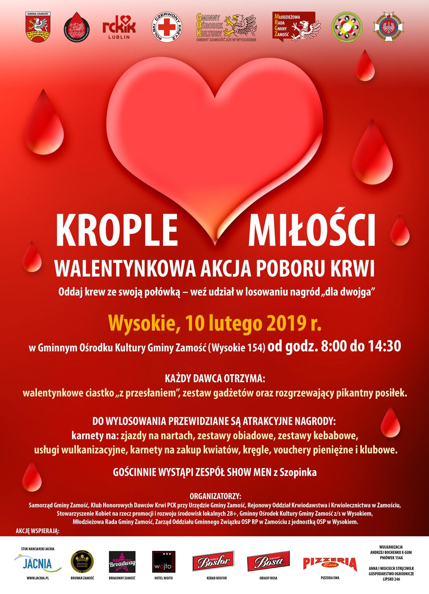 kople milosci Krople Miłości – Walentynkowa akcja poboru krwi