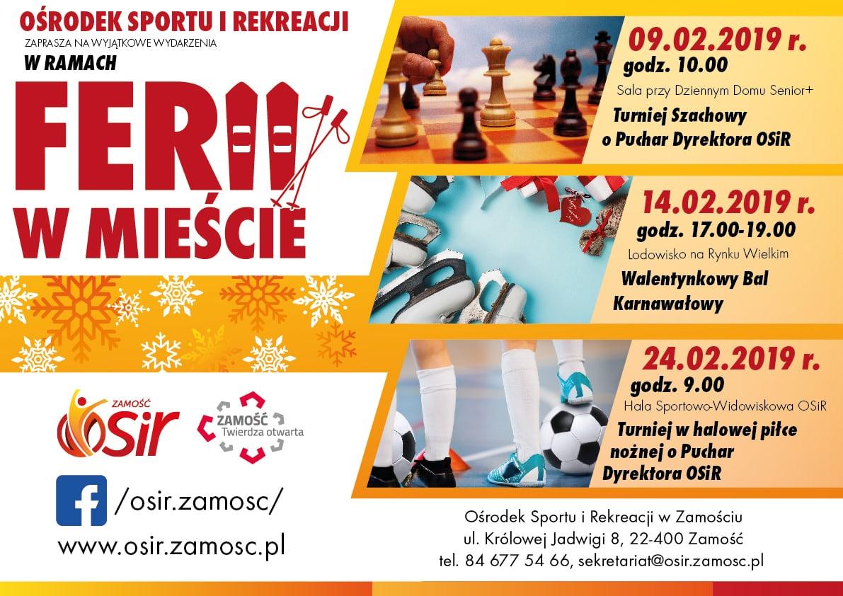 plakat aktywne ferie v 4 02 Ferie z OSiR-em: Karnawałowa zabawa z DJ-em PEXem na lodowisku i sporo innych atrakcji