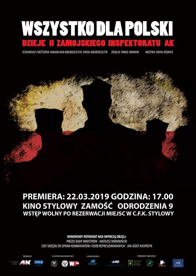 """54044974 330572477588820 8107070325356756992 n Premiera filmu dokumentalnego """"Wszystko dla Polski. Dzieje II Zamojskiego Inspektoratu AK"""" [ZWIASTUN]"""