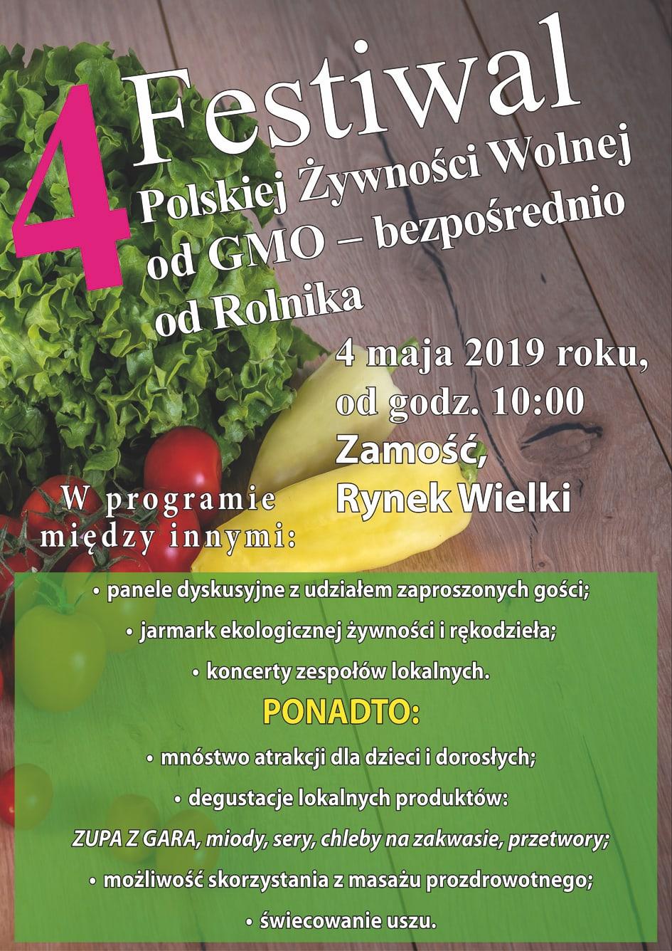 festiwal 4 maja wersja lzejsza Zamość: Przed nami IV edycja Festiwalu Żywności Wolnej od GMO. Bezpośrednio od Rolnika