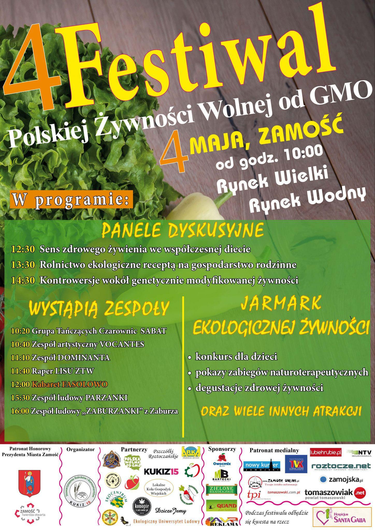 festplakatostateczny Żywność bezpośrednio od rolnika, wolna od GMO - zaproszenie