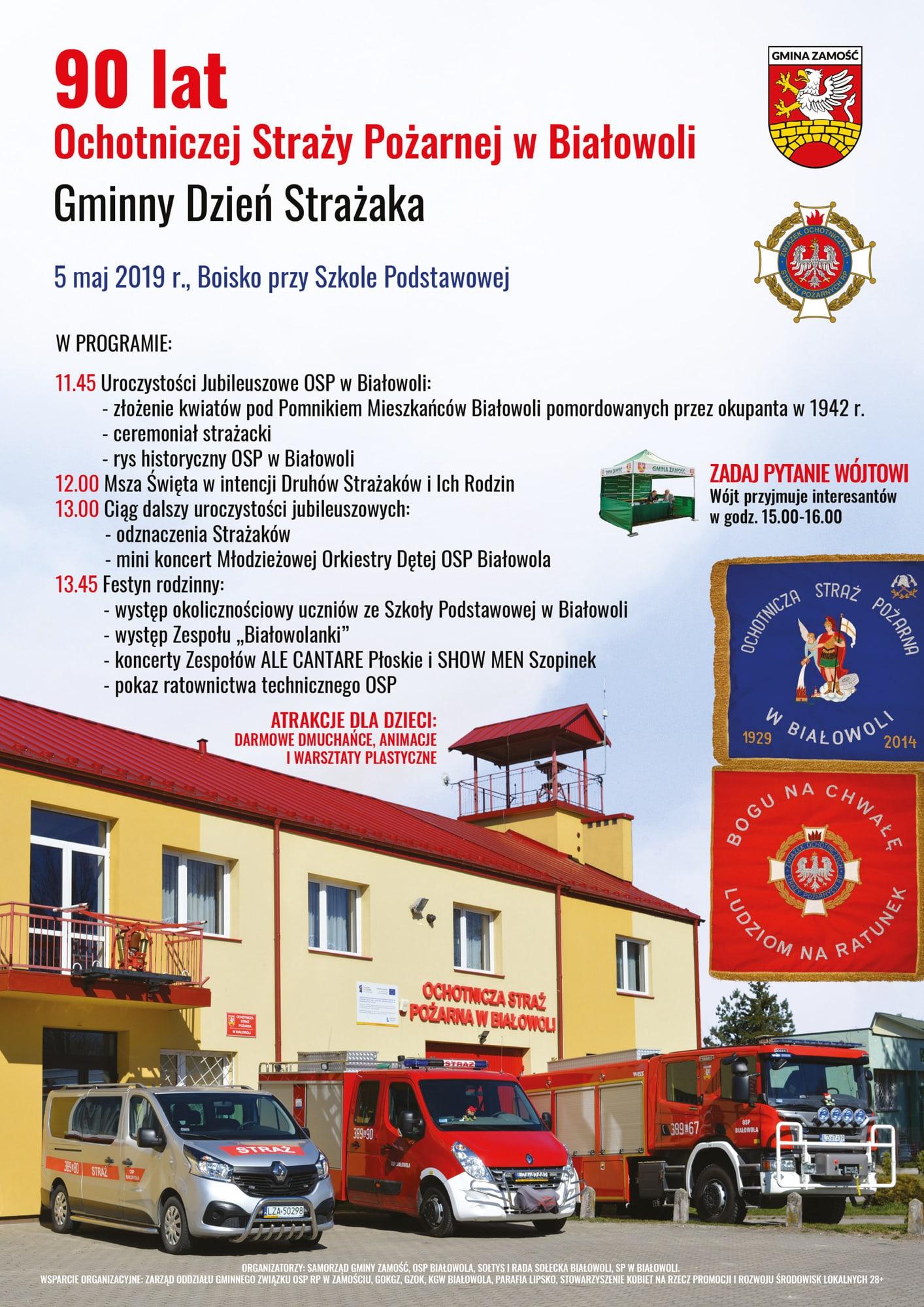 plakat Festyn z okazji 90-lecia OSP Białowola [PROGRAM]