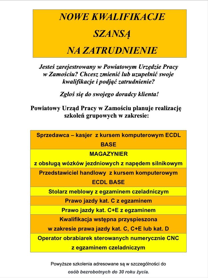 zrzut ekranu 2019 04 15 o 10 47 44 Zamość/Region: Oferty staży i szkoleń