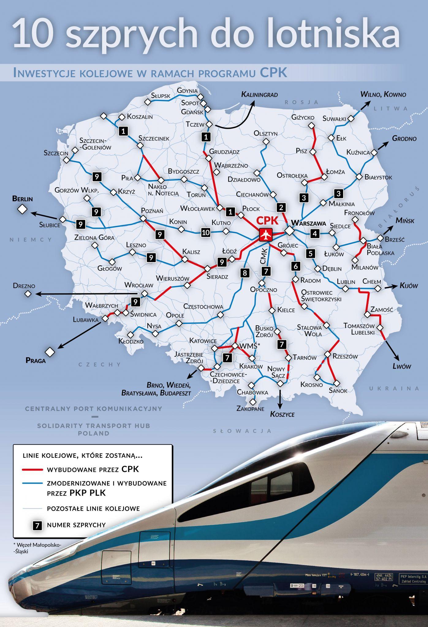info cpk kolej szprychy Czas dojazdu pociągiem z Warszawy do Zamościa skróci się aż trzykrotnie!