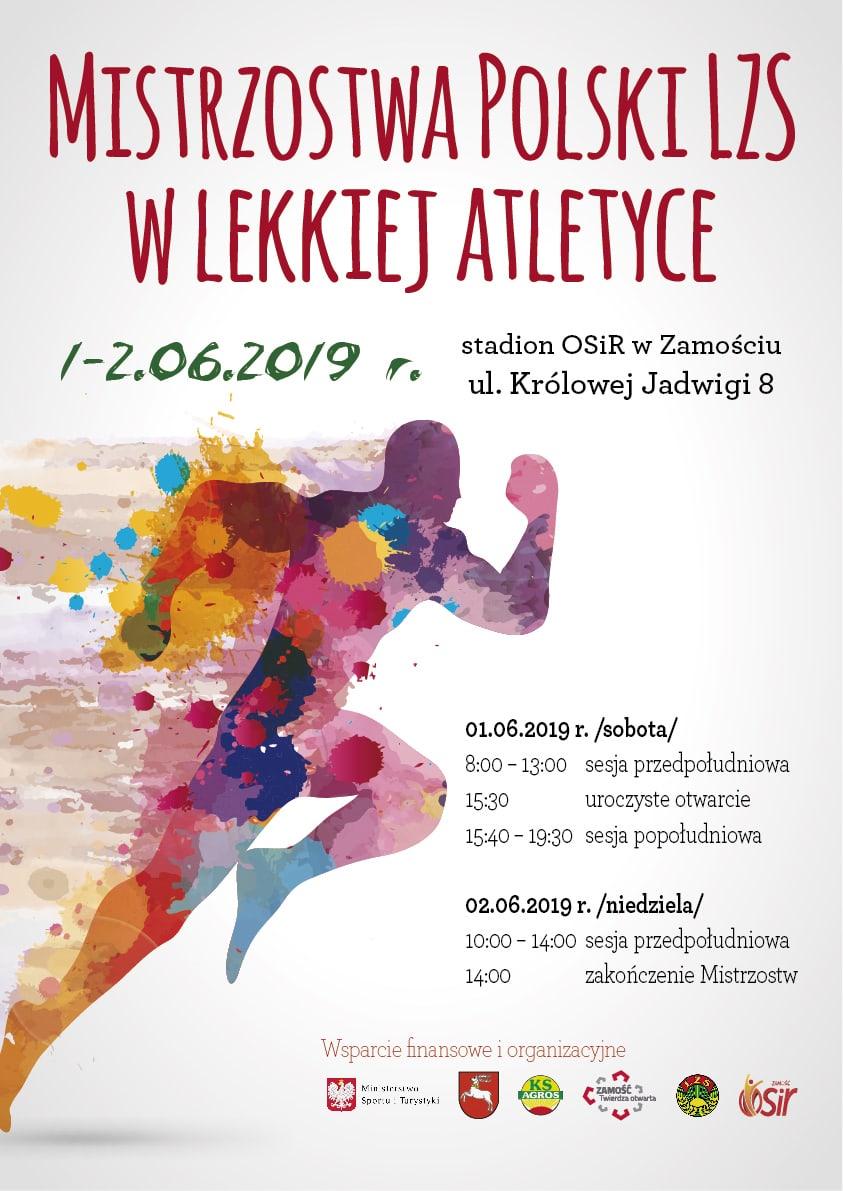 plakat lzs 01 Zamość gospodarzem Mistrzostw Polski LZS w lekkiej atletyce