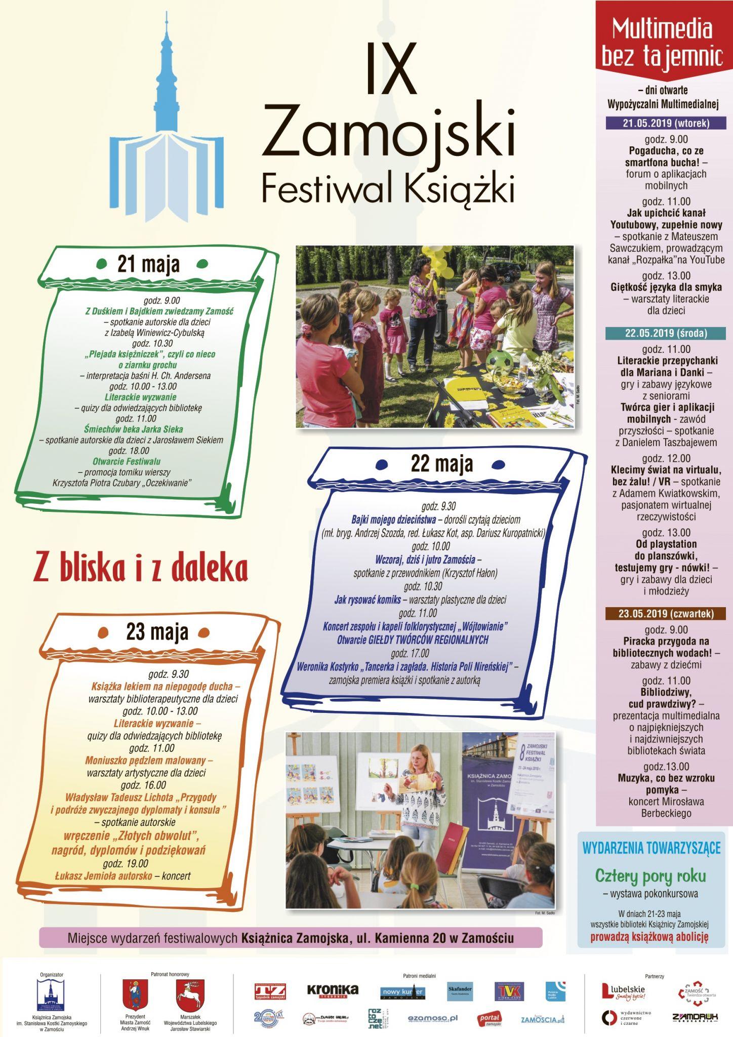plakat zfk 04 Bogaty program Zamojskiego Festiwalu Książki
