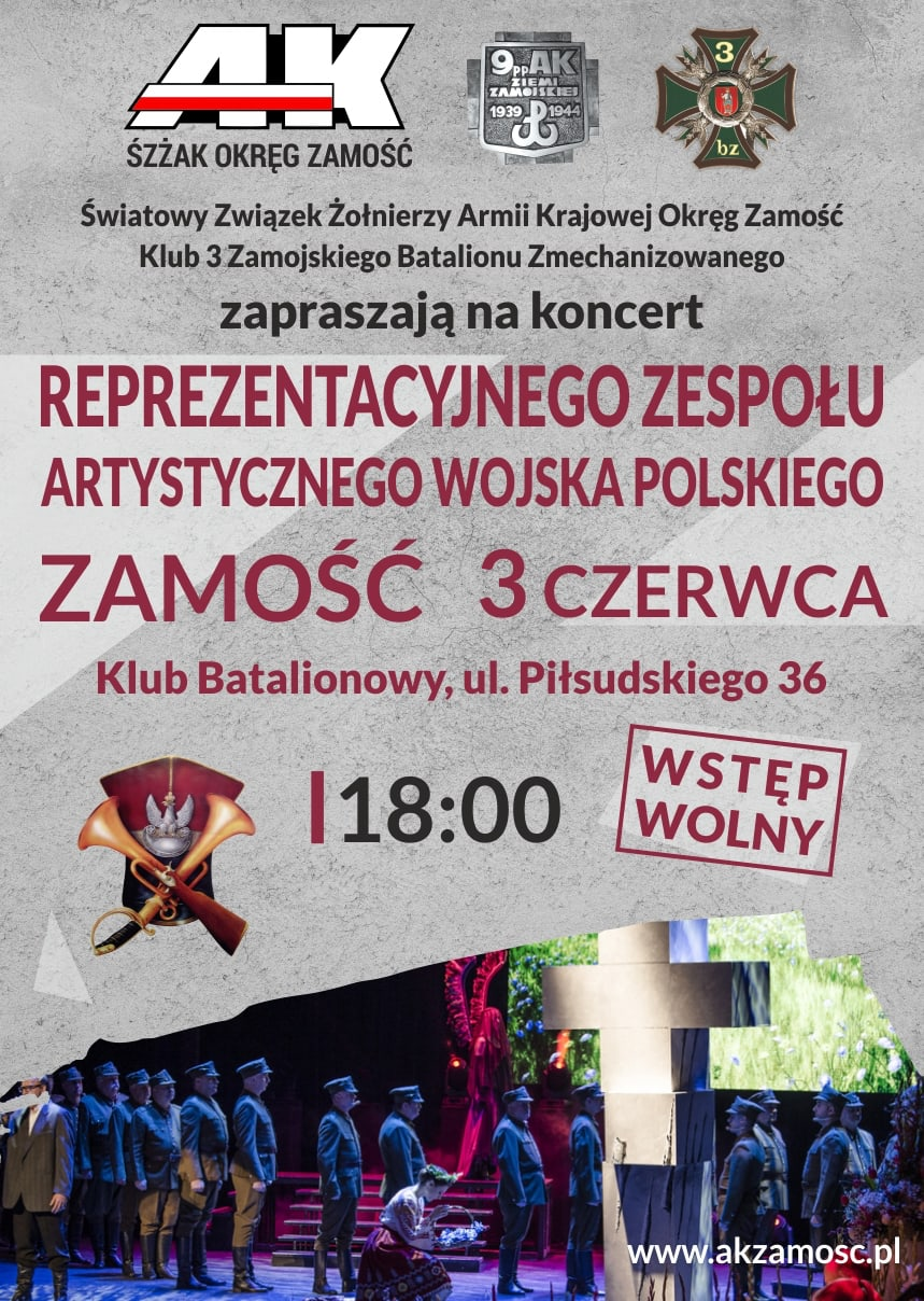 rzawp 03 06 Zamość: Koncert Reprezentacyjnego Zespołu Artystycznego Wojska Polskiego