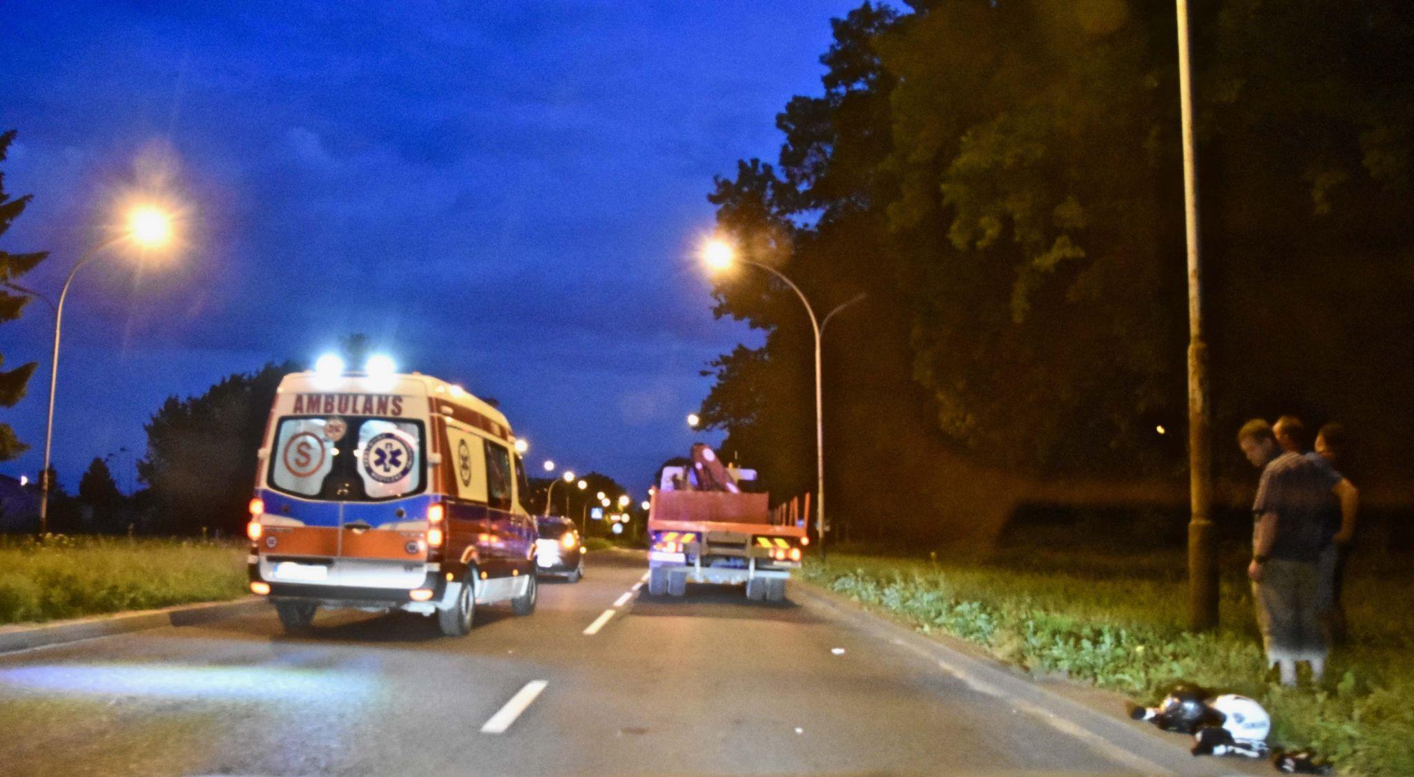 dsc 8889 Zamość: Wypadek motocykla. 19-letnia pasażerka jednośladu trafiła do szpitala (zdjęcia)