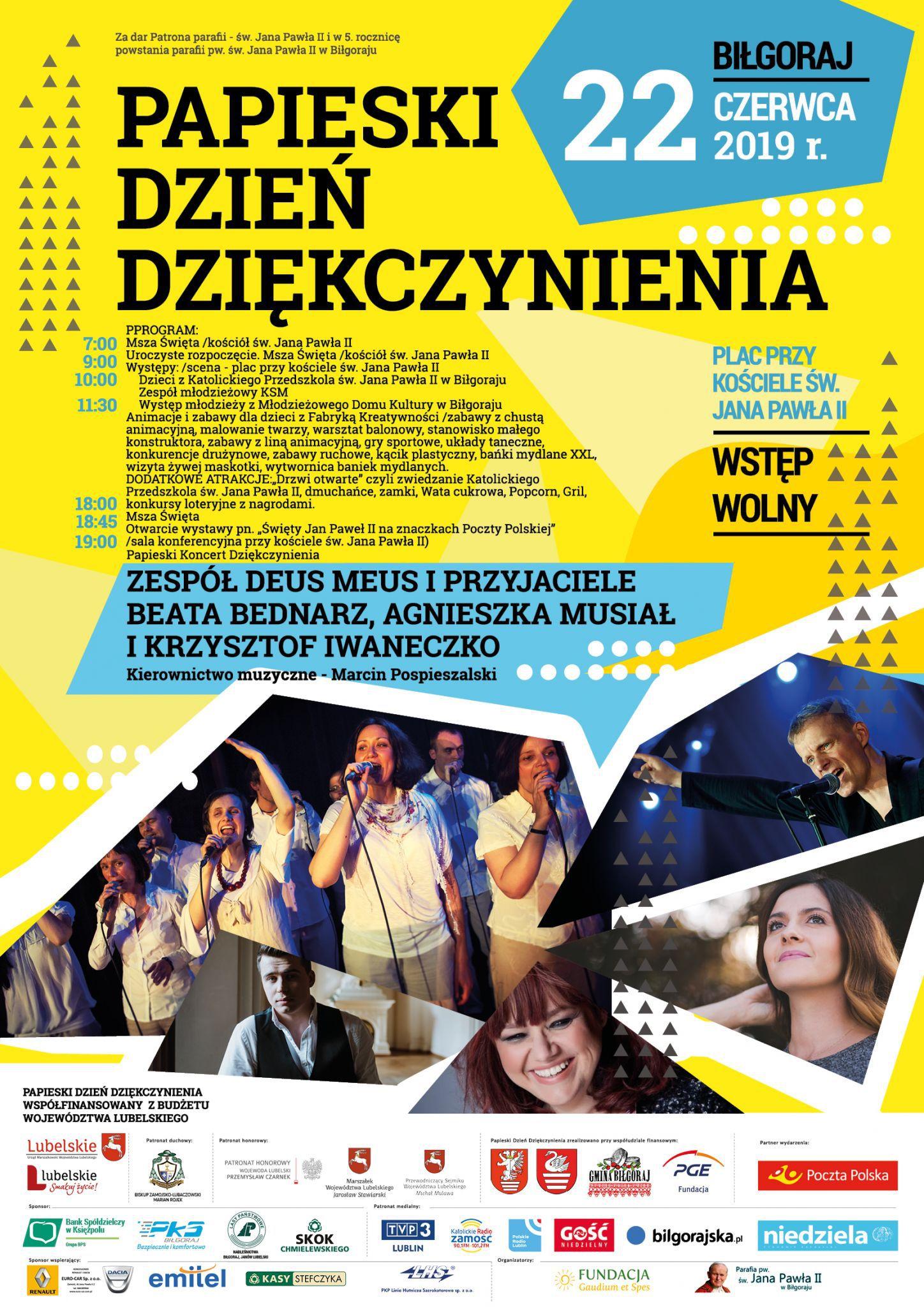 plakat podglad Biłgoraj: Papieski Dzień Dziękczynienia i Wystawa Znaczków Pocztowych