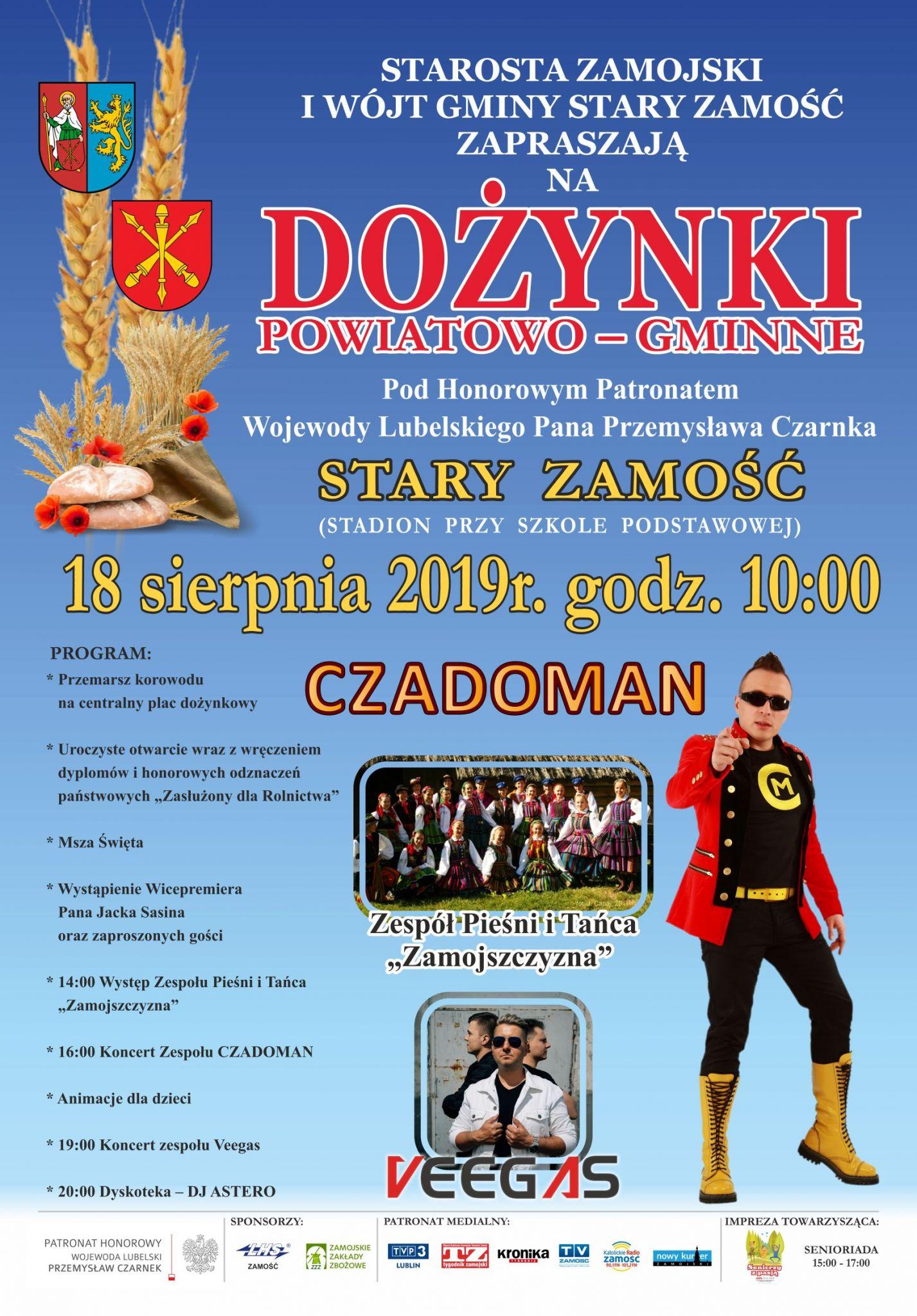 dozynki plakat Czadoman gwiazdą dożynek