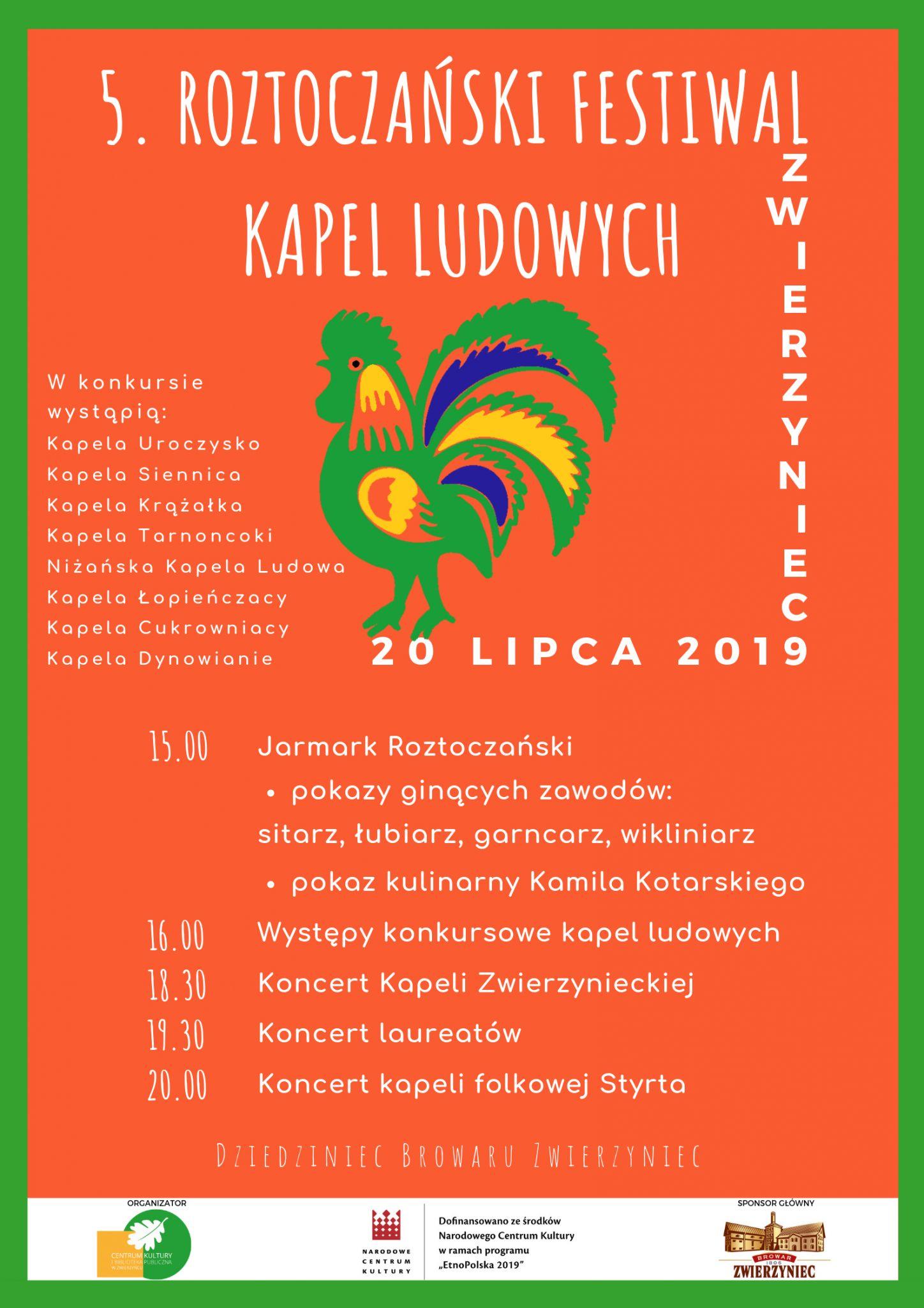 festiwal kapel ludowych Roztoczański Festiwal Kapel Ludowych po raz piąty