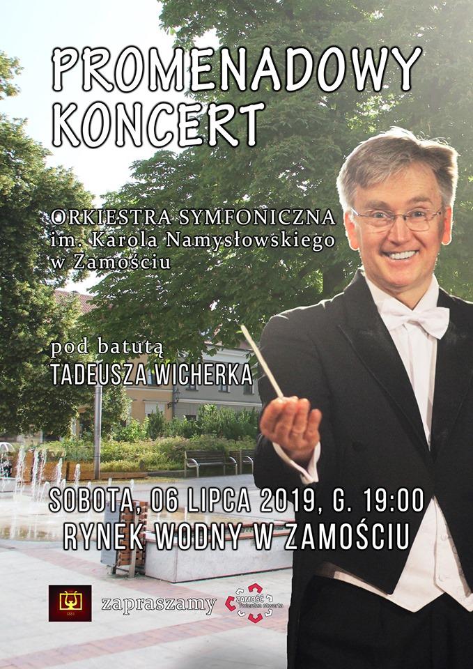 koncert promenadowy plakat Zamość: Przed nami Koncert Promenadowy na Rynku Wodnym. Wstęp wolny