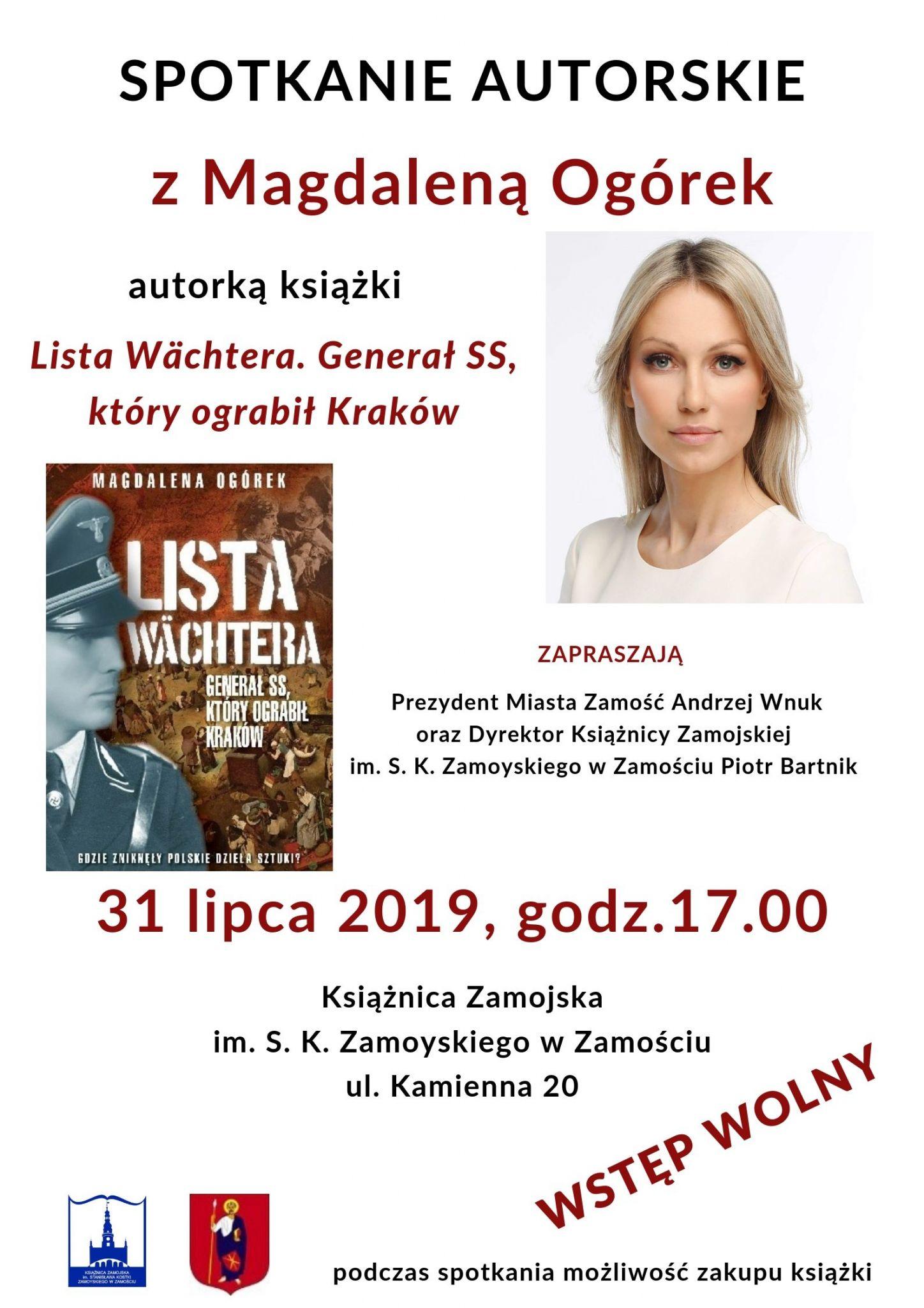 m ogorek plakat Magdalena Ogórek w Książnicy Zamojskiej - Wybieracie się?