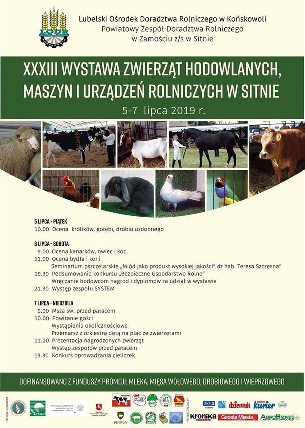 wystawa zwierzat w sitnie 2019 Sitno: Wielka impreza rolnicza już w ten weekend