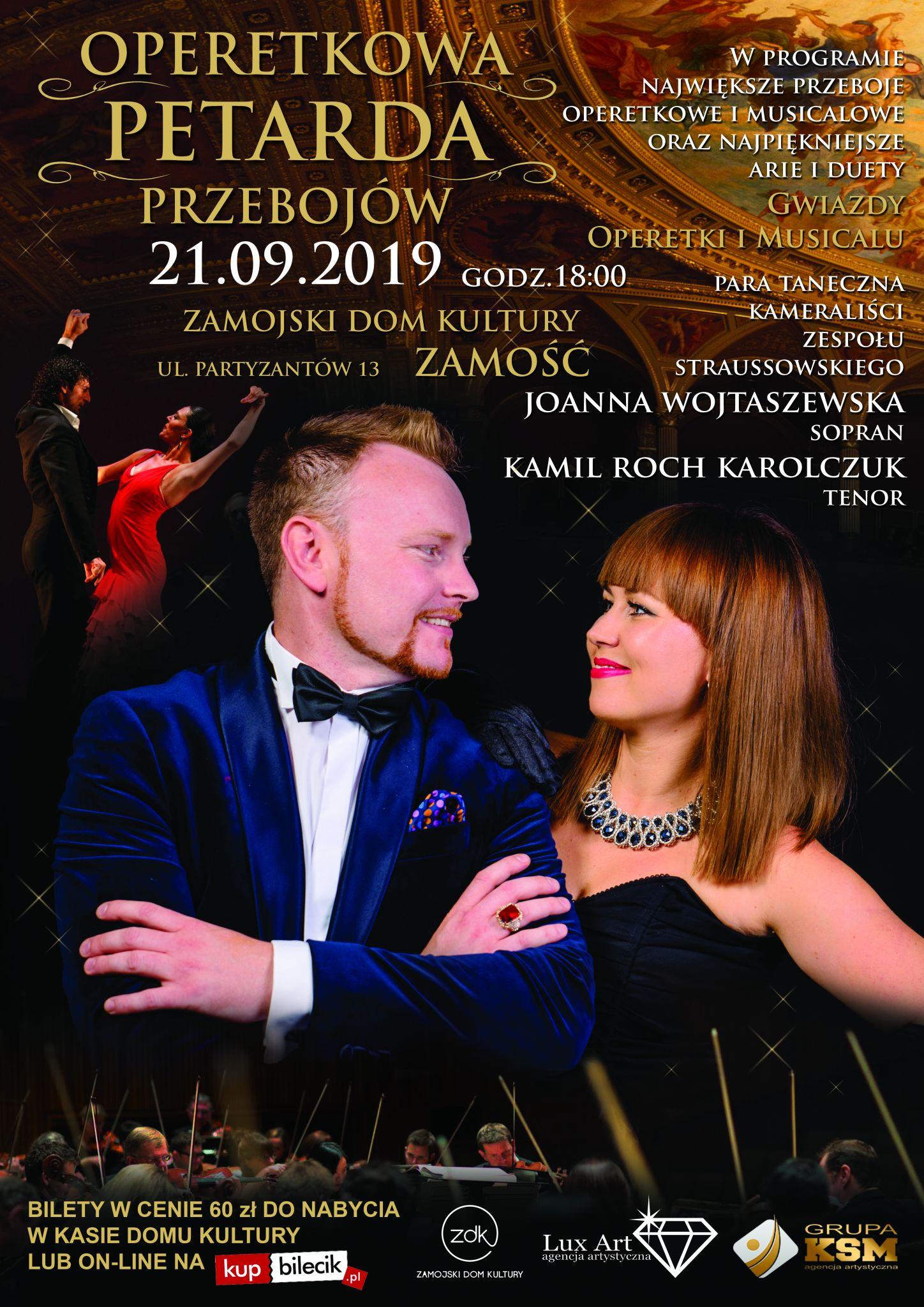 00116 petarda zamosc 2019 06 03 1 Najgorętsza para operetkowa w Polsce zaśpiewa w Zamościu!