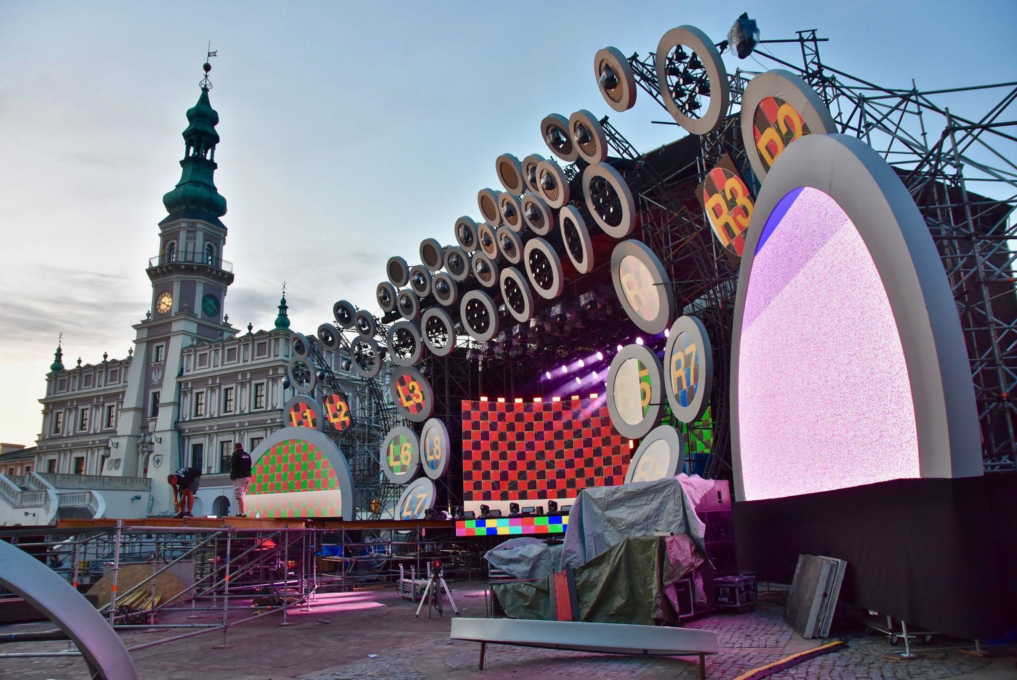 dsc 2977 Kolorowo na Rynku Wielkim - trwają próby oświetleniowe (zdjęcia)
