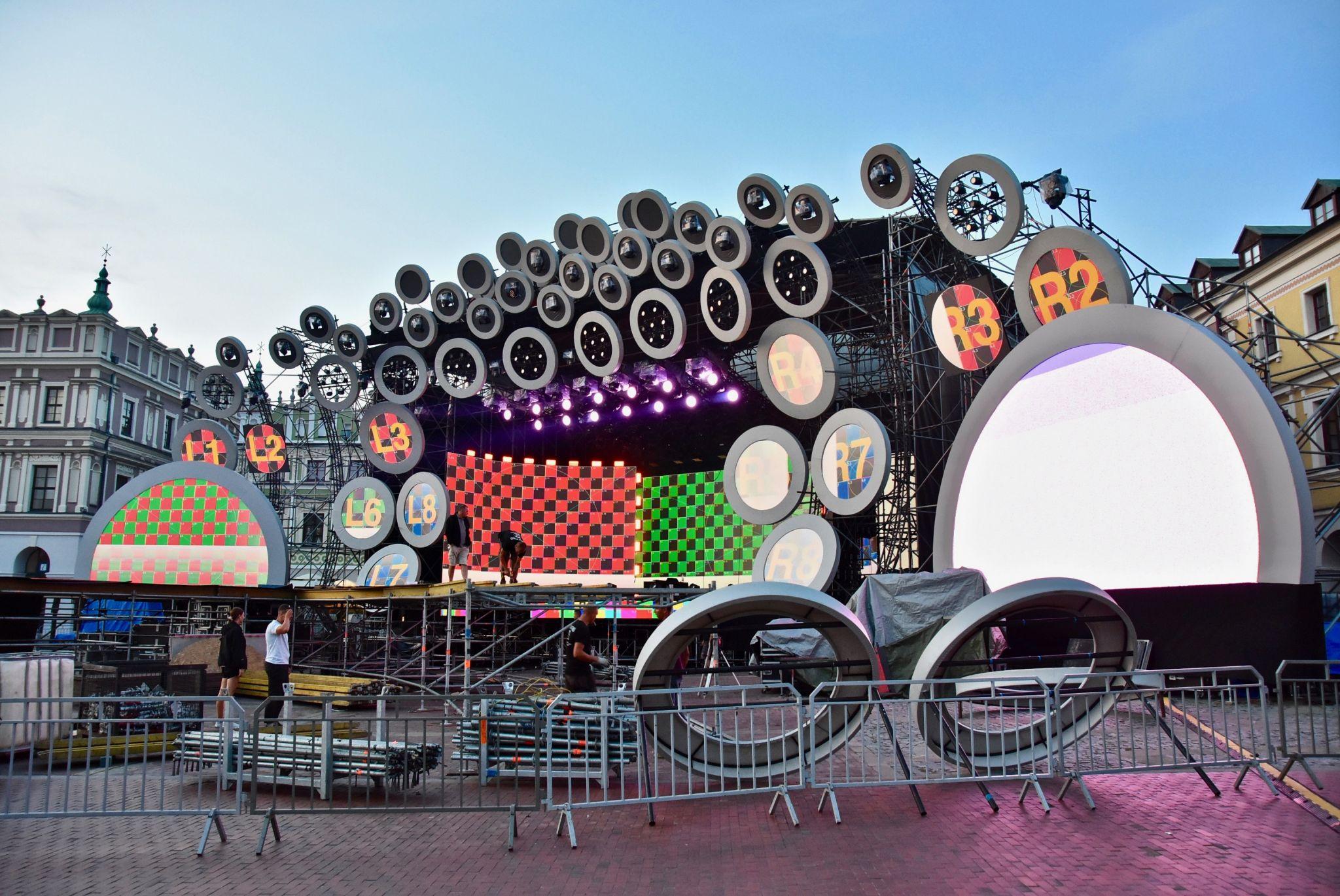 dsc 2982 Kolorowo na Rynku Wielkim - trwają próby oświetleniowe (zdjęcia)