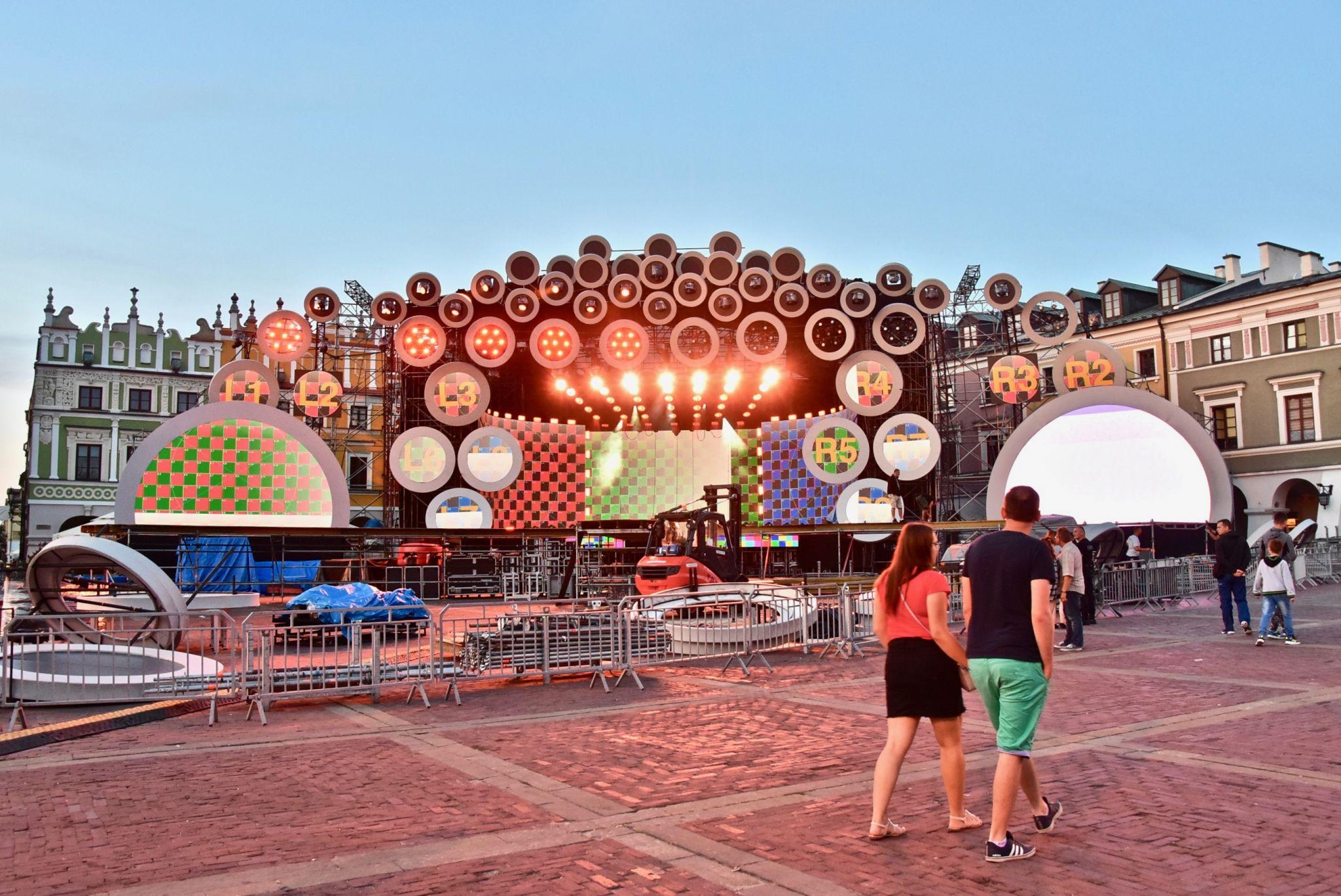 dsc 2990 Kolorowo na Rynku Wielkim - trwają próby oświetleniowe (zdjęcia)