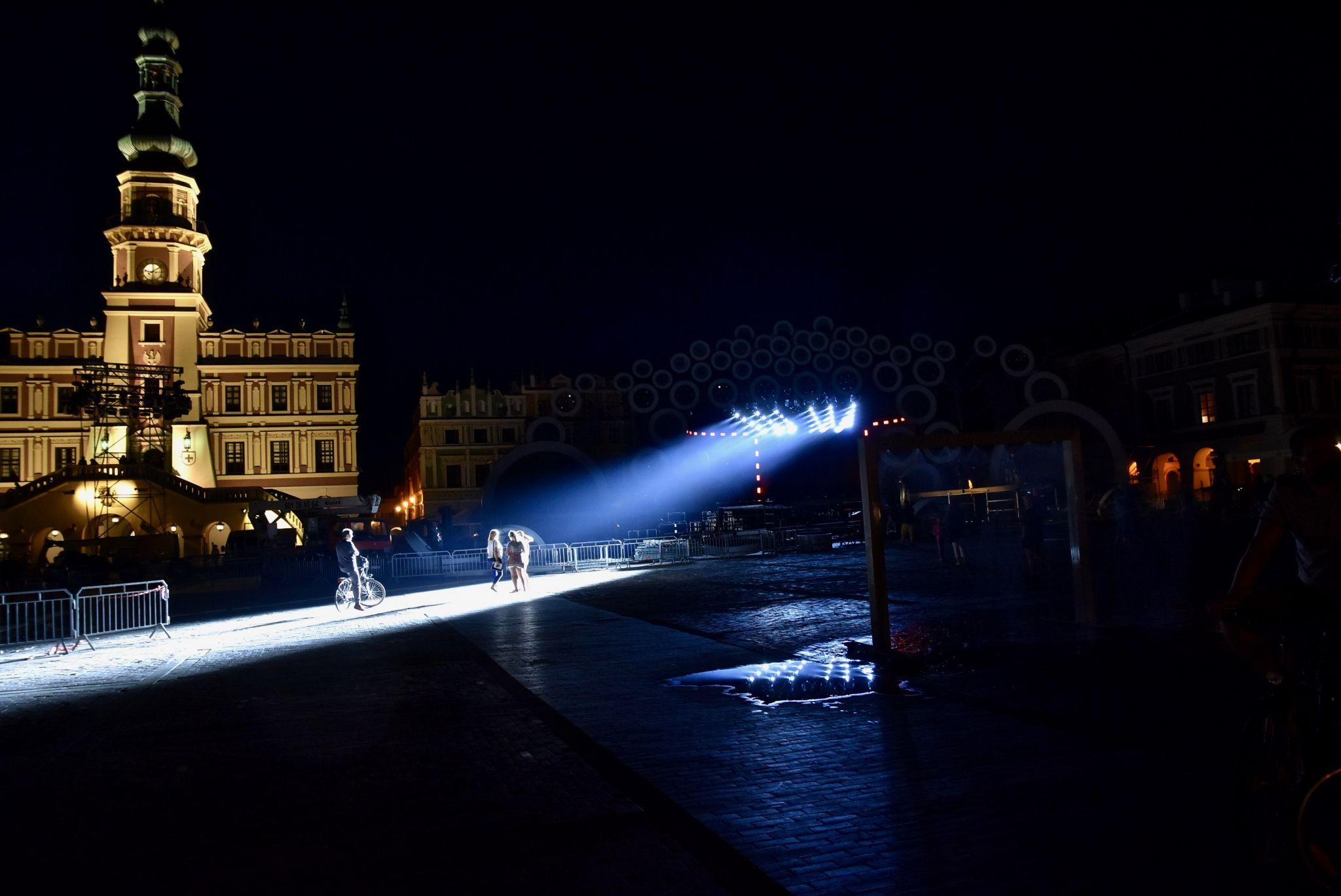 dsc 3001 Kolorowo na Rynku Wielkim - trwają próby oświetleniowe (zdjęcia)