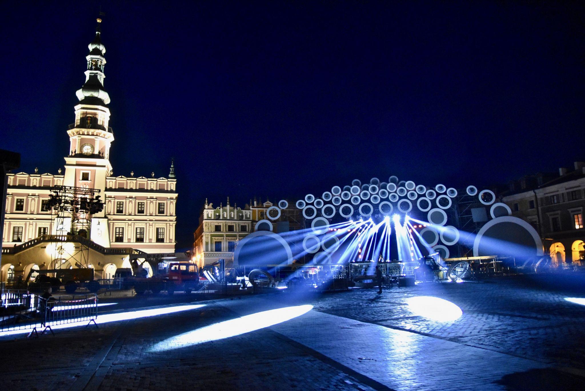 dsc 3029 Kolorowo na Rynku Wielkim - trwają próby oświetleniowe (zdjęcia)