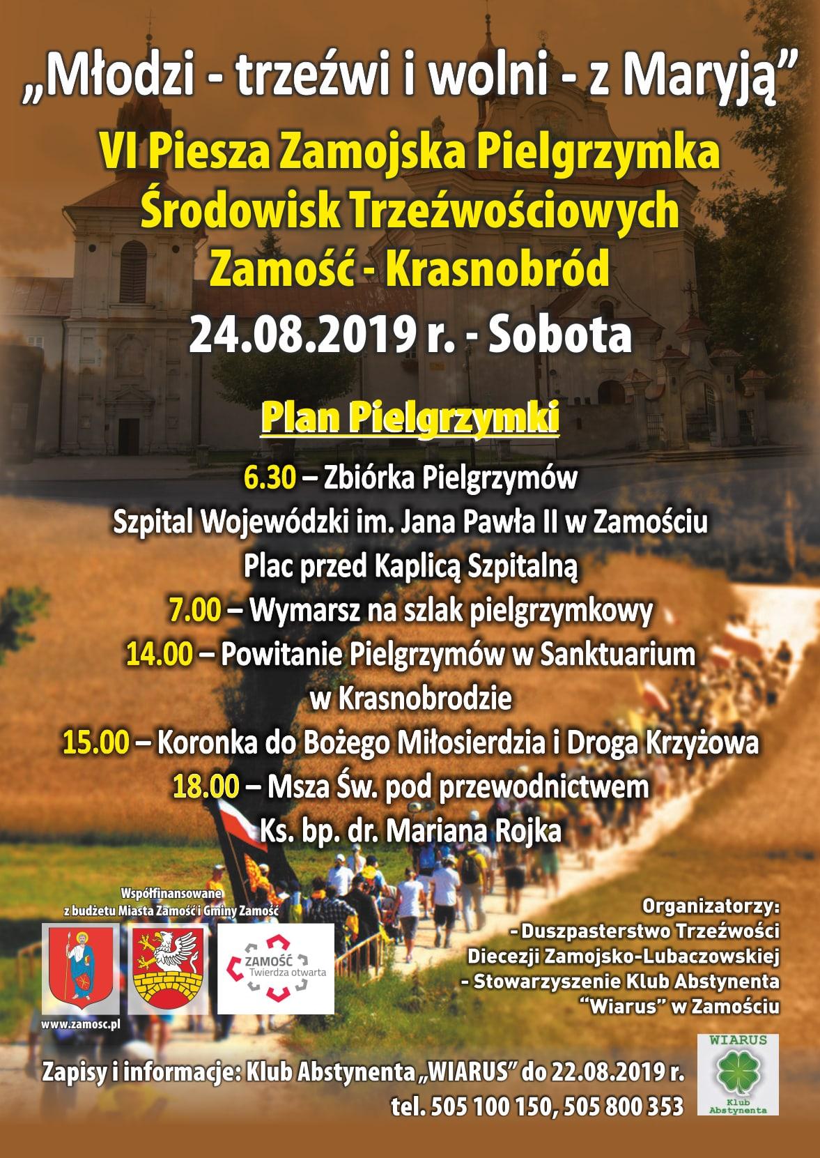 koraszynski pielgrzymka trzezwosci 2019 Z Zamościa do Krasnobrodu w imię trzeźwości.