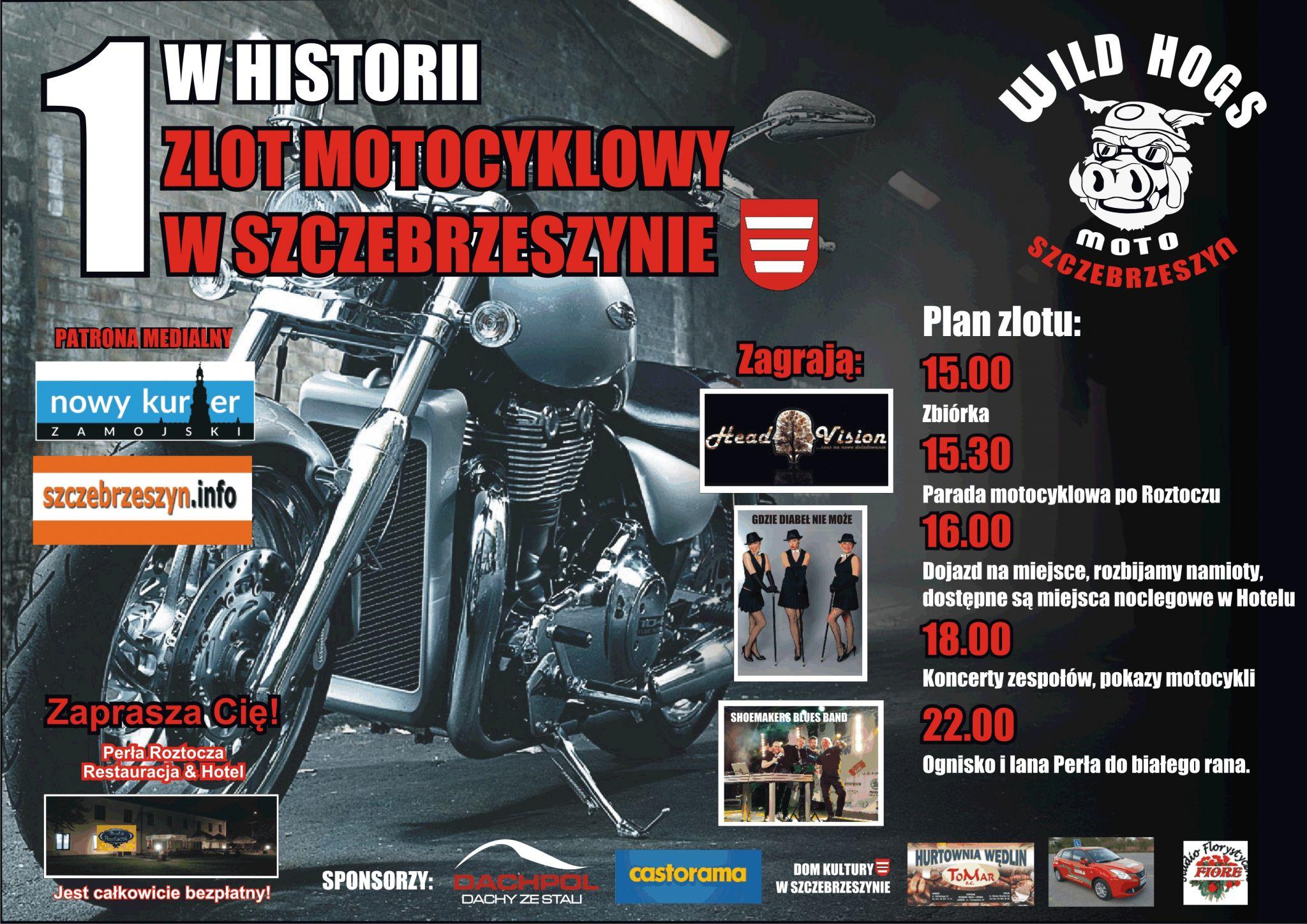zlot szczeb Pierwszy w historii zlot motocyklowy w Szczebrzeszynie