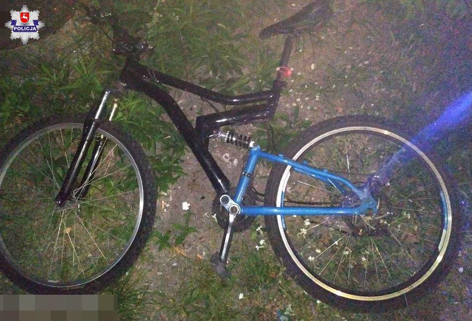68 153825 35 - letni rowerzysta wjechał wprost pod samochód