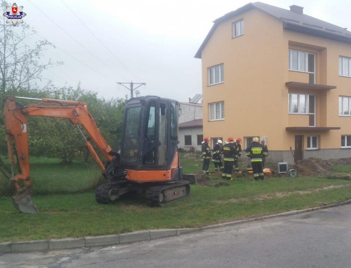 68 153919 Biłgoraj: Uszkodzony gazociąg. Ewakuowano mieszkańców