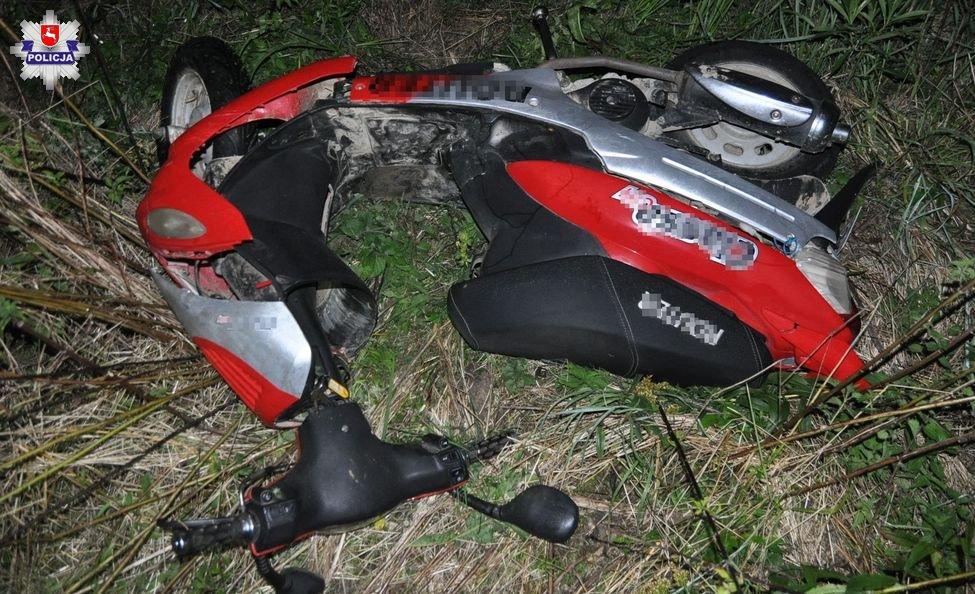 68 154196 Zasnęła jadąc motorowerem