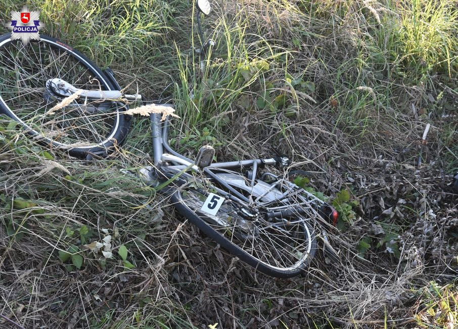 68 154464 Kierowca Mitsubishi potrącił rowerzystę