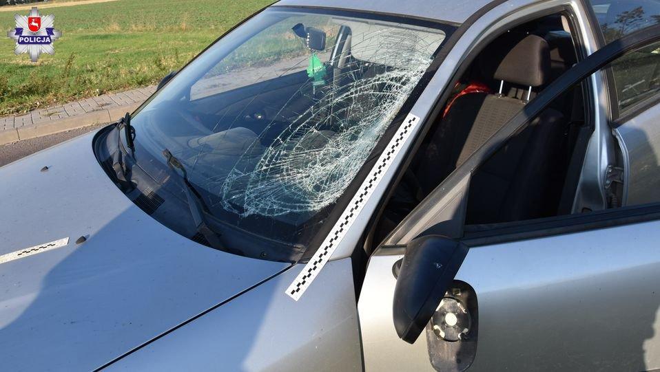 68 154465 Kierowca Mitsubishi potrącił rowerzystę