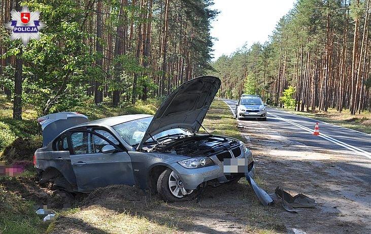 68 154940 Pijany kierowca BMW spowodował wypadek. Dwójka dzieci ranna