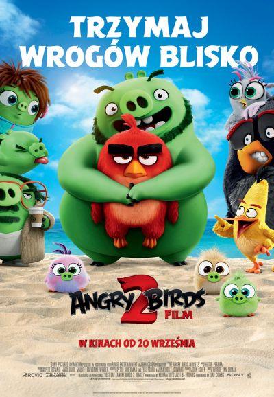 """angry plakat """"Angry Birds Film 2"""" w ramach kina przyjaznego sensorycznie w CKF Stylowy"""
