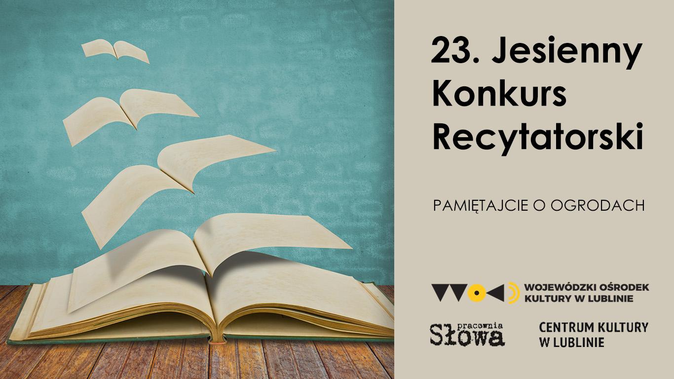 baner 23 jkrimageoptim Recytatorzy na start. ZDK zaprasza do udziału w konkursie