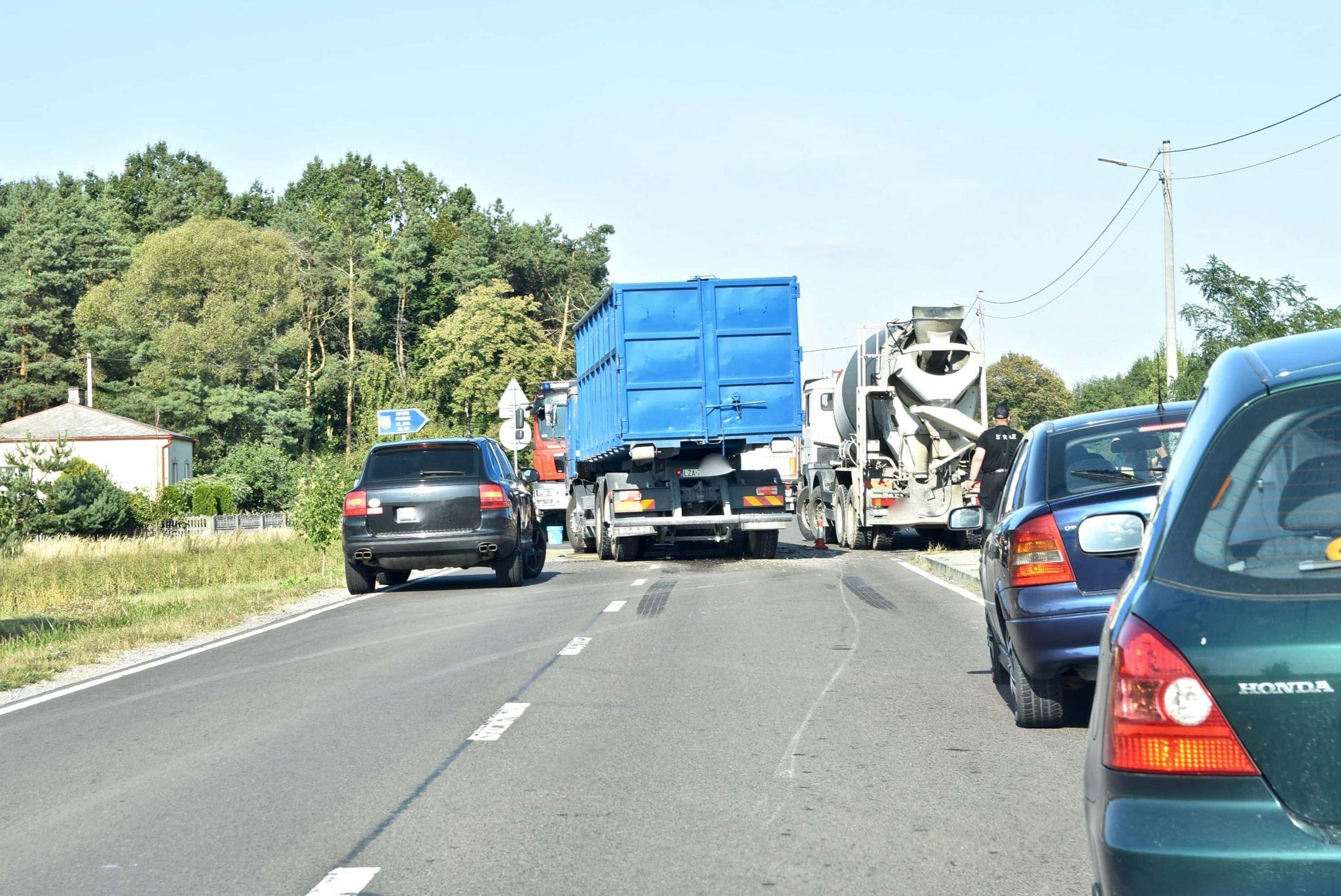 dsc 7057 Z ostatniej chwili. Zderzenie dwóch ciężarówek (zdjęcia)