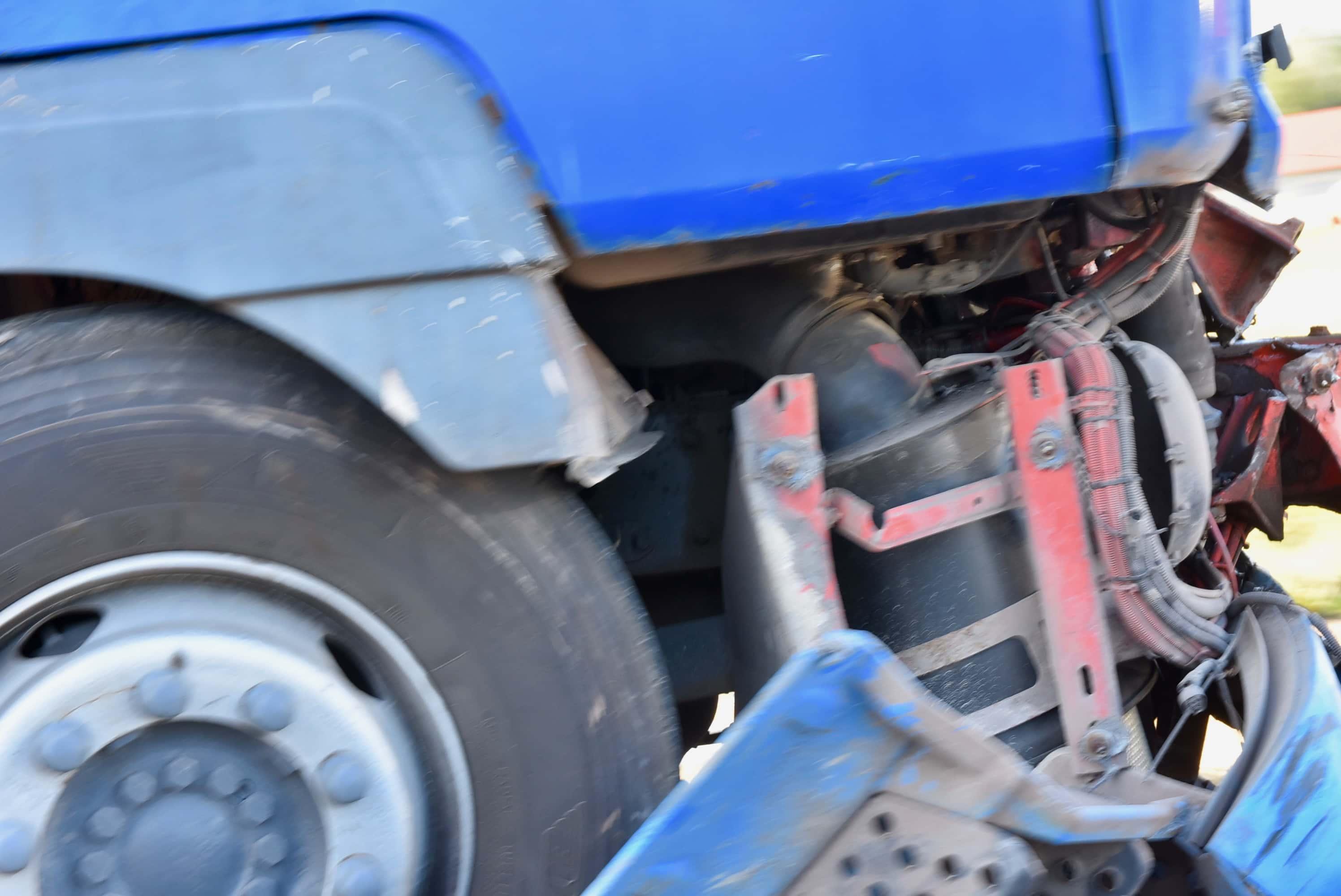 dsc 7062 Z ostatniej chwili. Zderzenie dwóch ciężarówek (zdjęcia)