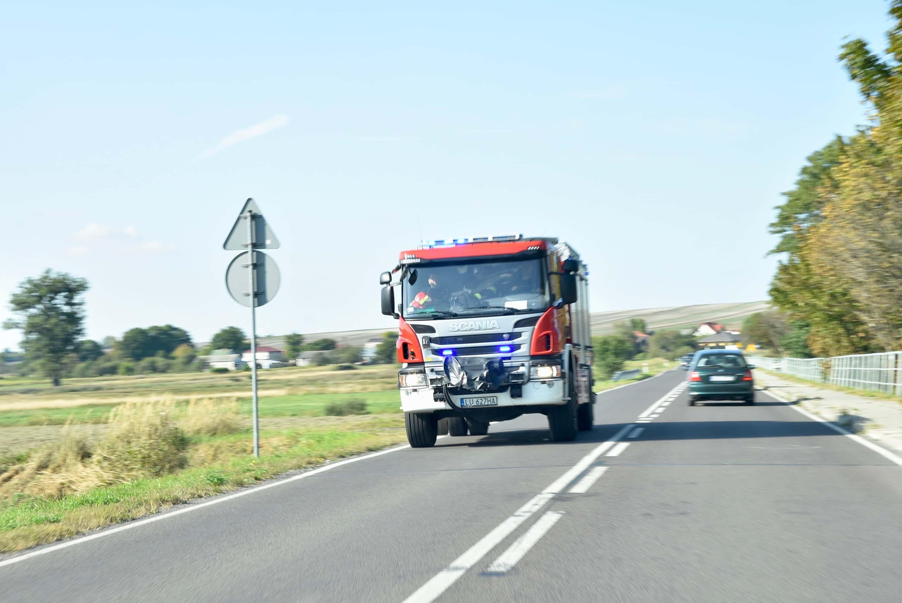 dsc 7066 Z ostatniej chwili. Zderzenie dwóch ciężarówek (zdjęcia)