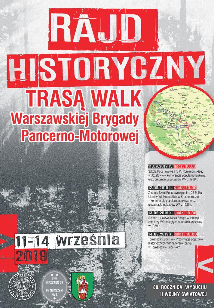 plakat small Rajd historyczny trasą walk Warszawskiej Brygady Pancerno-Motorowej