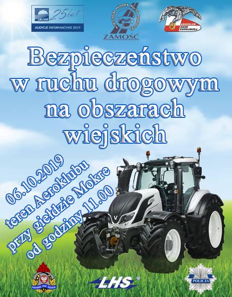 plakat MOKRE: Impreza poświecona bezpieczeństwu na wsi. W programie wiele atrakcji