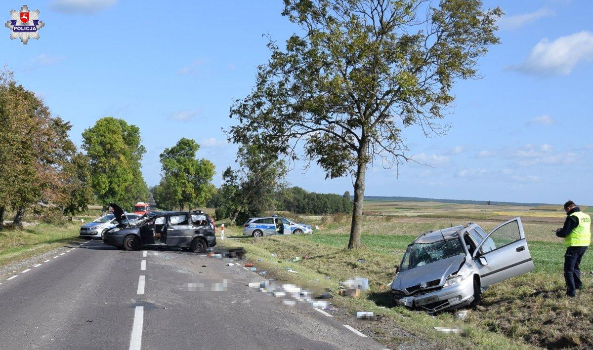 rt Wypadek z udziałem trzech aut
