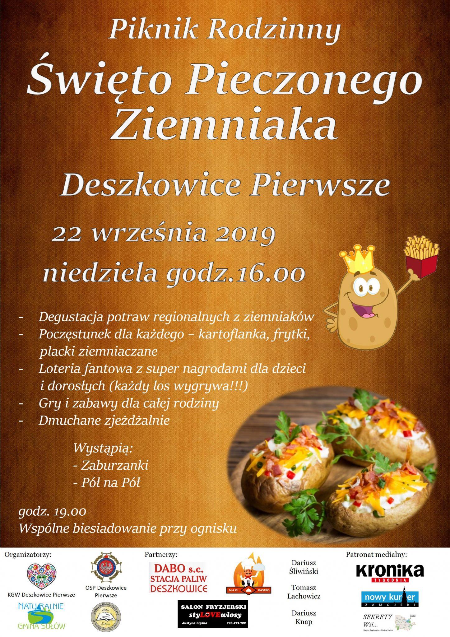 swieto pieczonego ziemniaka Święto Pieczonego Ziemniaka w Gminie Sułów.