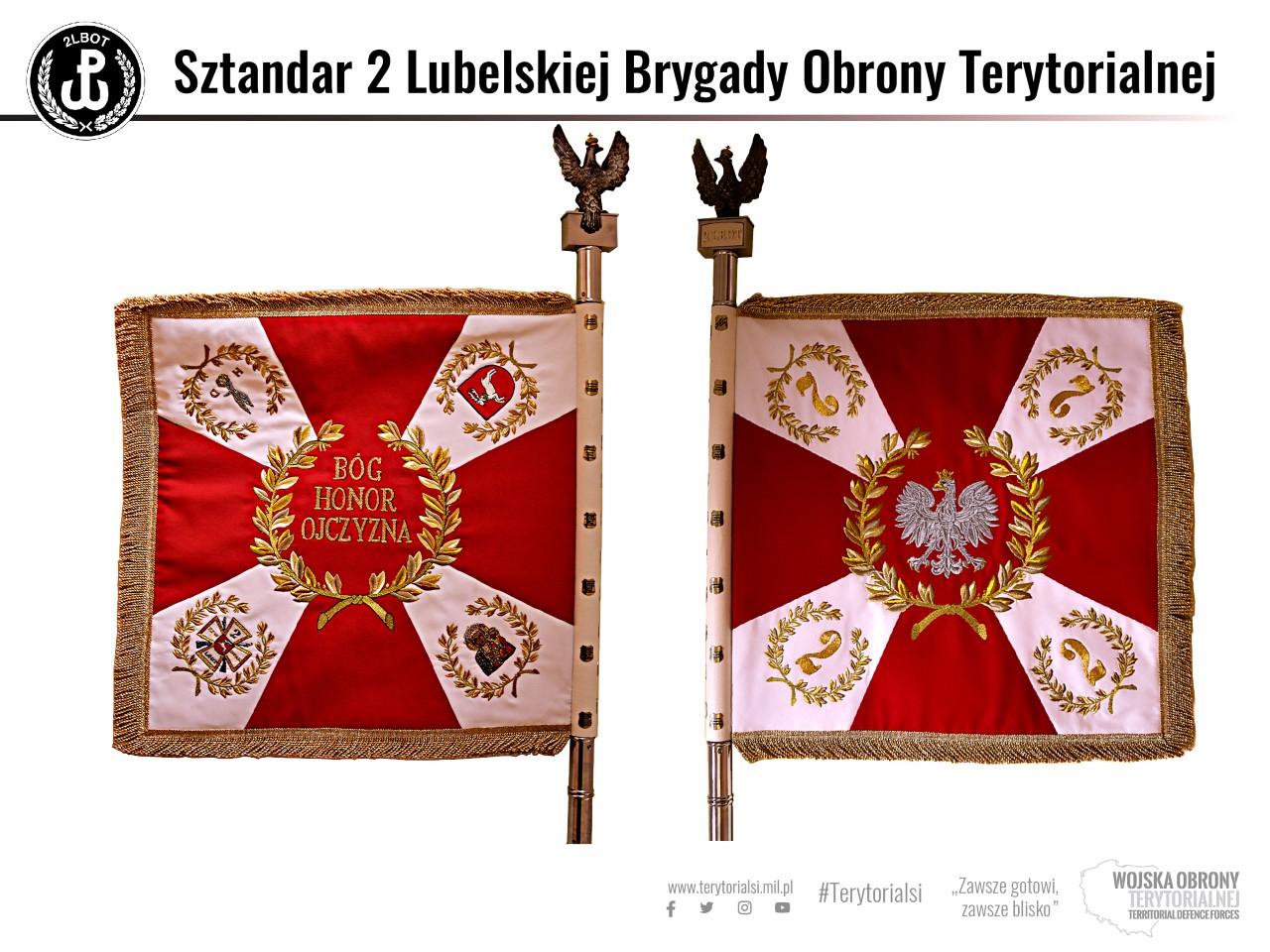 sztandar 2lbot 2. Lubelska Brygada Obrony Terytorialnej otrzyma sztandar z rąk Prezydenta Dudy