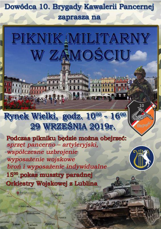 zrzut ekranu 2019 09 27 o 09 02 11 Zamość: Piknik Militarny na Rynku Wielkim