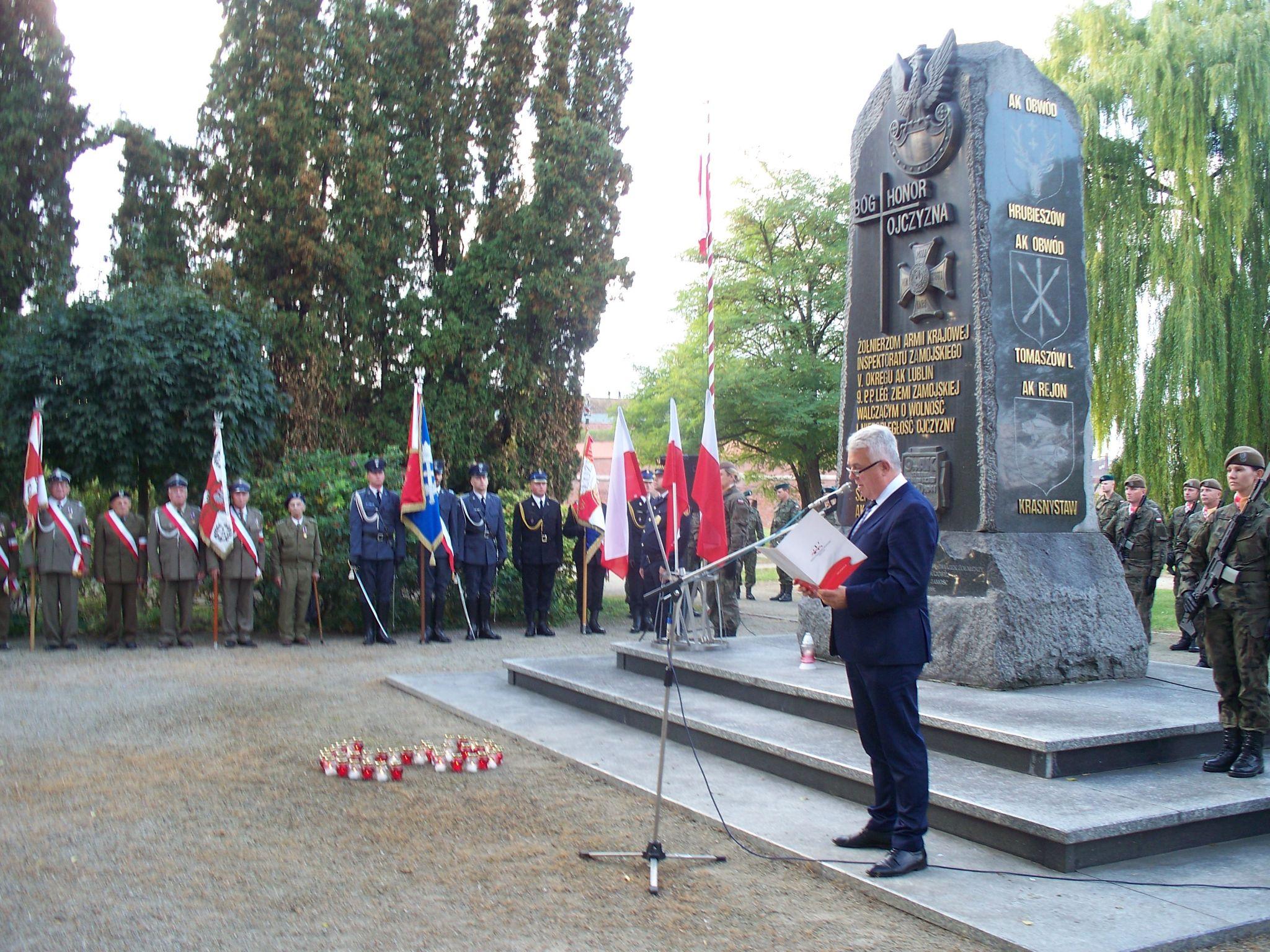 100 9668 Zamość: Obchody 80. rocznicypowstania Polskiego Państwa Podziemnego [ZDJĘCIA]