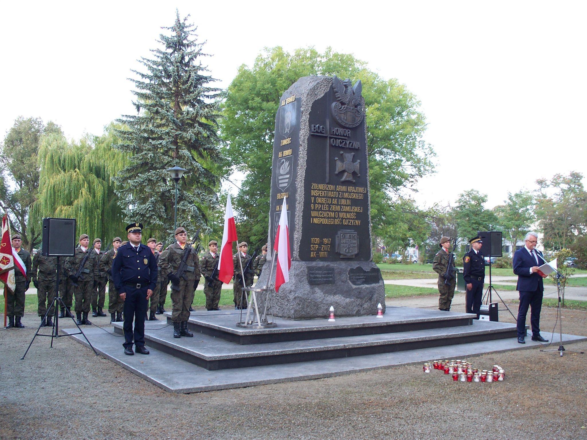 100 9682 Zamość: Obchody 80. rocznicypowstania Polskiego Państwa Podziemnego [ZDJĘCIA]
