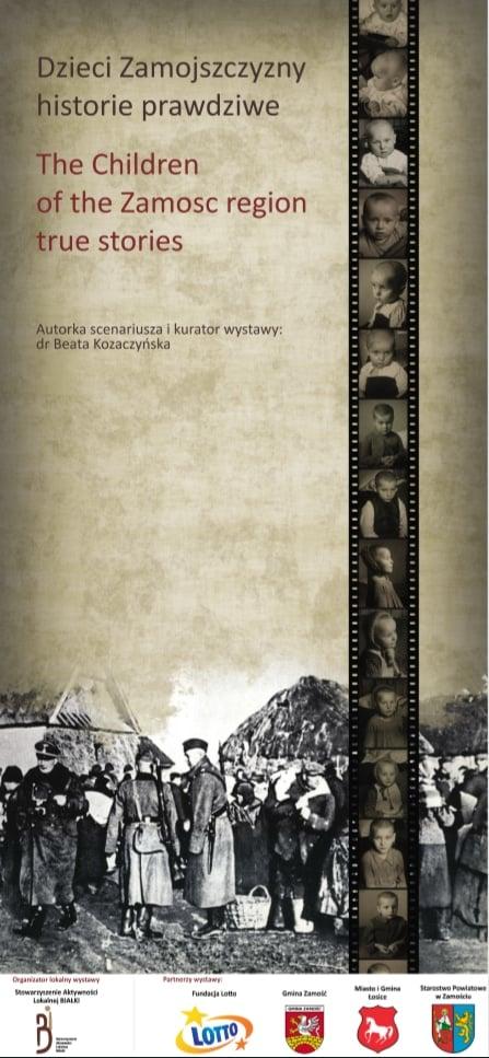 4 3 dzieci zamoj plakat Dzieci Zamojszczyzny – historie prawdziwe. Wystawa autorstwa Beaty Kozaczyńskiej