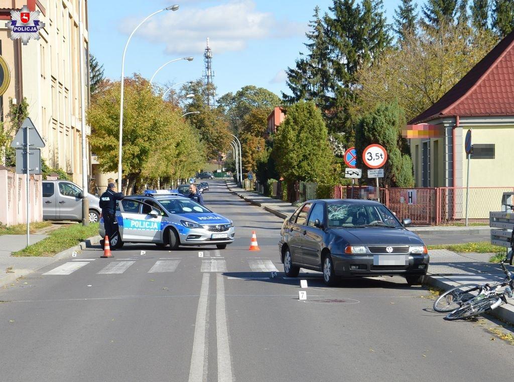 68 155641 Zamość: Rowerzysta potrącony przez samochód