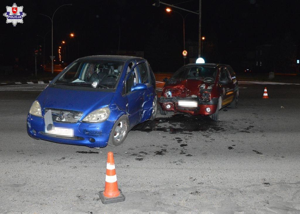 68 156675 Zamość: Wypadek na skrzyżowaniu