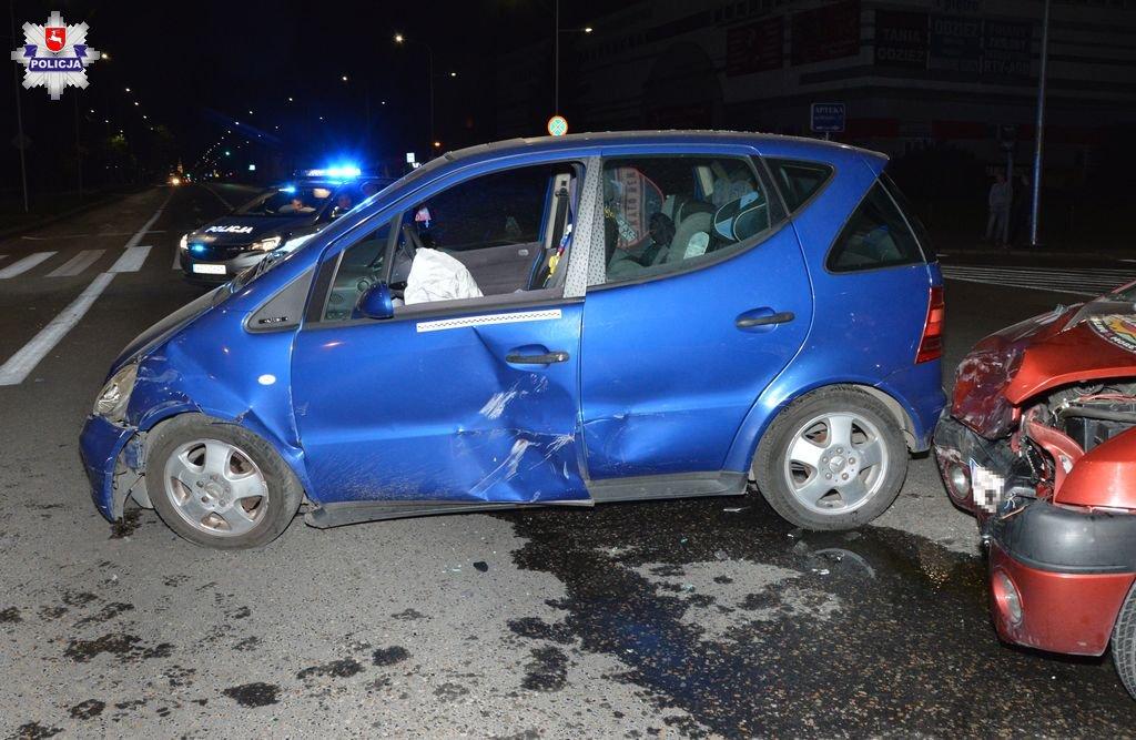 68 156676 Zamość: Wypadek na skrzyżowaniu